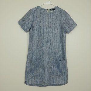 Talienk Metallic Shift Dress SS Back Zip 6 #3253